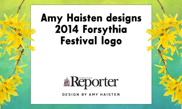 Amy Haisten designs 2014 Forsythia Festival logo