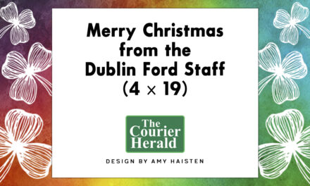 Merry Christmas from the Dublin Ford Staff (4 x 19)