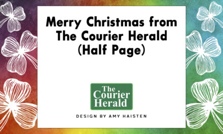 Merry Christmas from The Courier Herald (Half Page)