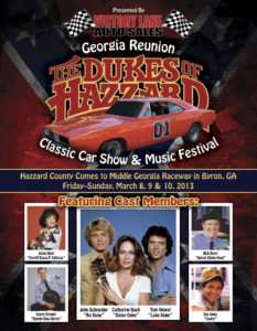 Dukes of Hazzard Reunion Flyer Front