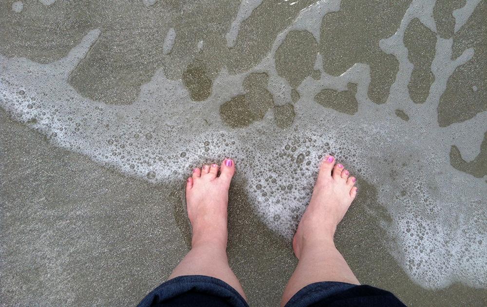 Amy's feet at St. Simon's Island