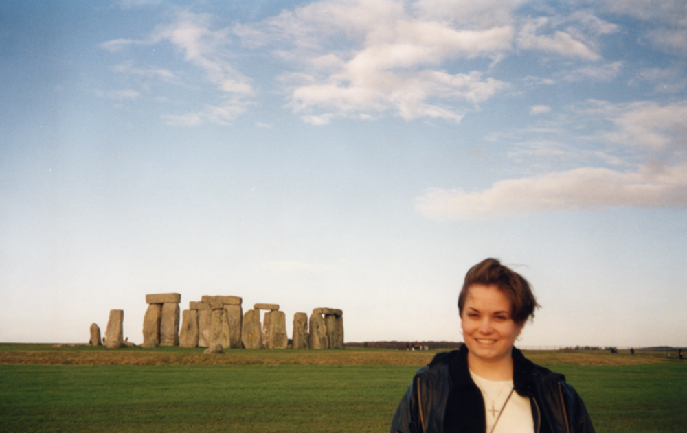 Amy at Stonehenge in Wiltshire, England