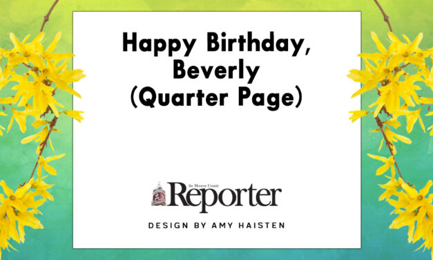 Happy Birthday, Beverly (Quarter Page)