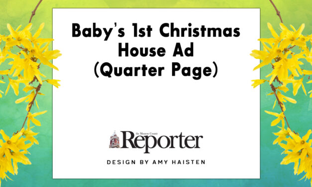 Baby's 1st Christmas House Ad (Quarter Page)