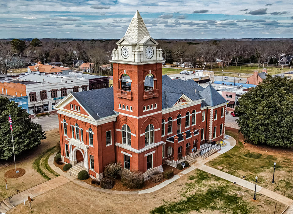 Court House Square in Jackson, GA, photo by Lawrence Wallis