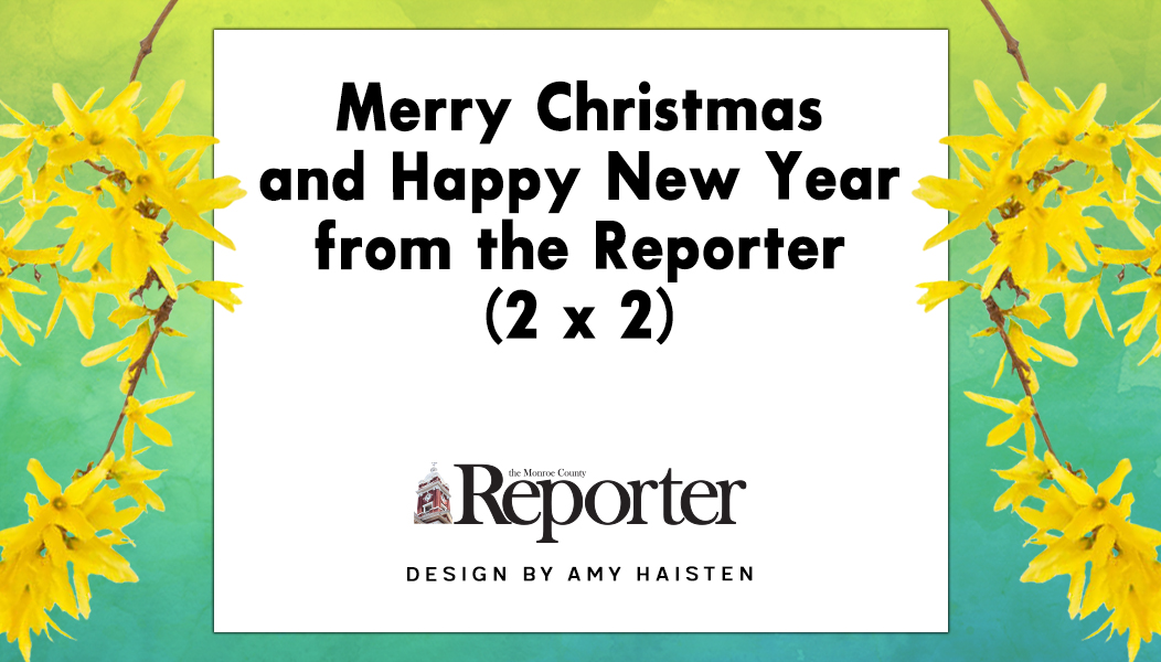 Merry Christmas and Happy New Year from the Reporter (2 x 2)