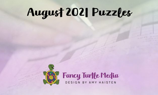 August 2021 Puzzles